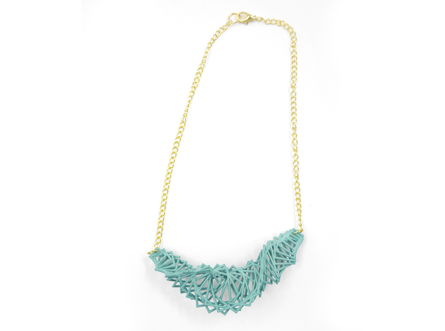 Arithmetic Necklace 3d printed Custom Dyed Nylon (Teal)