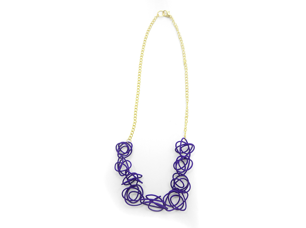 Sprouted Spirals Necklace (Chain) in Purple Processed Versatile Plastic
