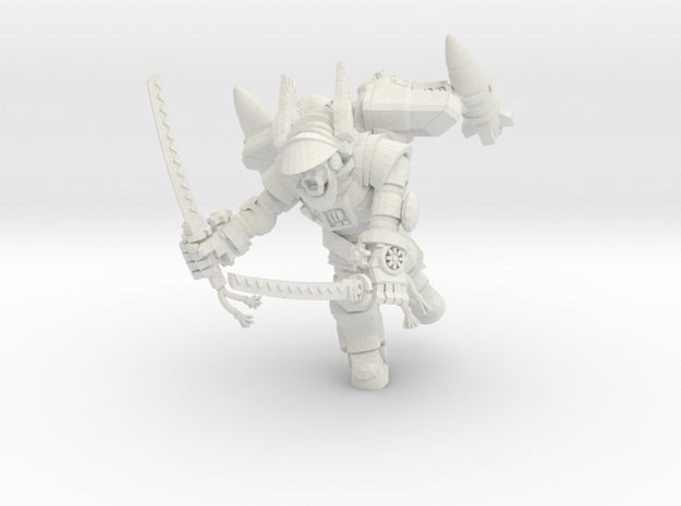 Astroknight Rocketman With Katanas in White Natural Versatile Plastic