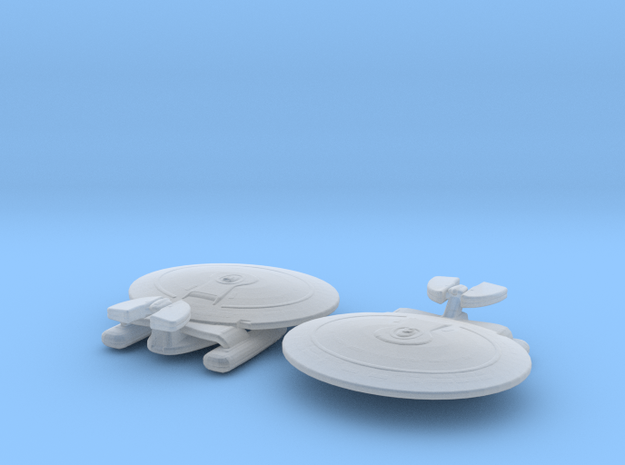 Nebula Class (Alternate Pod) 1/15000 x2 in Smooth Fine Detail Plastic