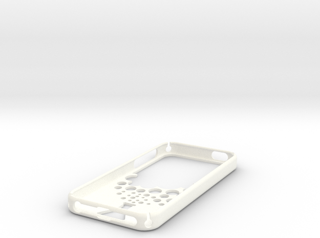 IPhone 5S Case Reaction in White Processed Versatile Plastic