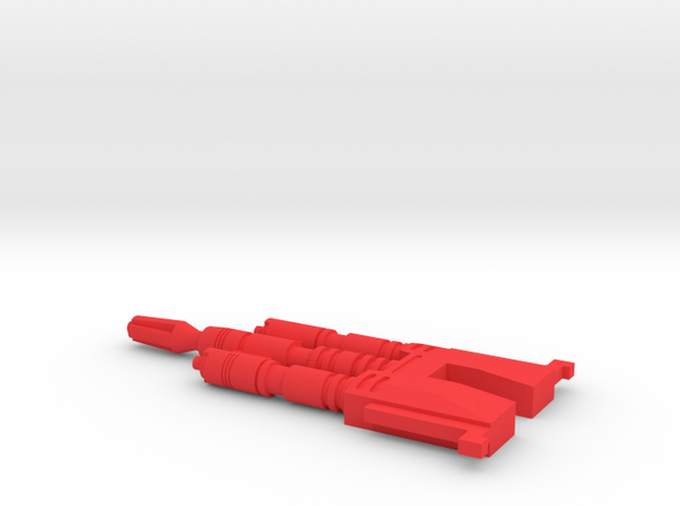 Starcom - Starhawk - Main Laser Canon v1 in Red Processed Versatile Plastic