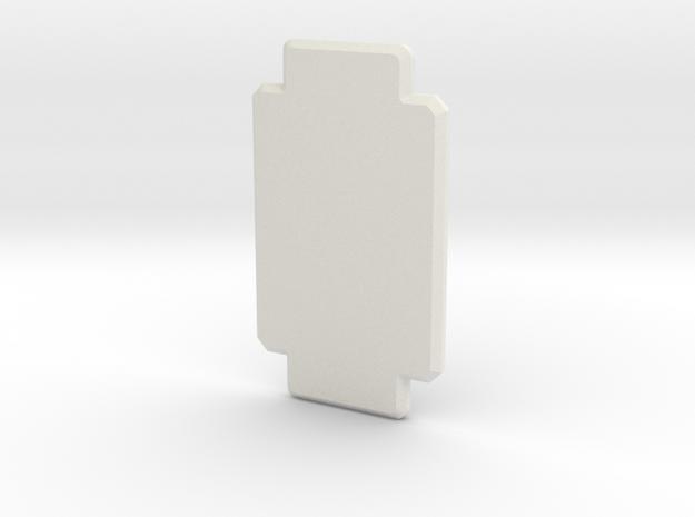 1:300 Miniature Space X Rocket Ocean Landing Pad in White Natural Versatile Plastic