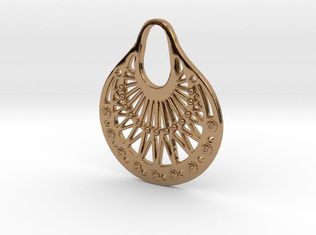 Ornamental Pendant / Earring 3d printed