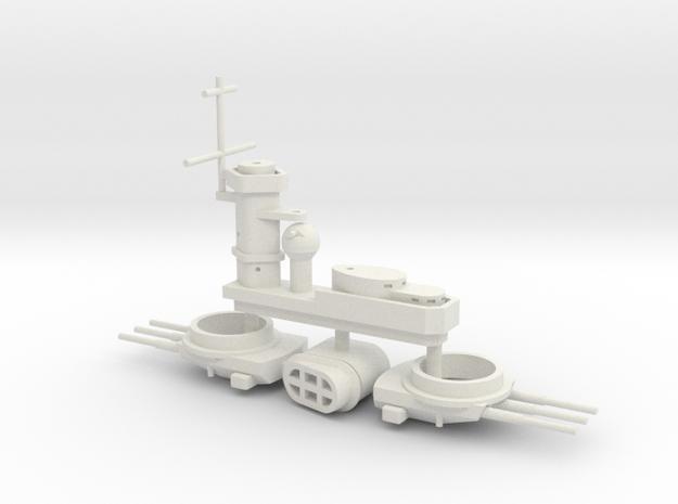 1/700 FlugDeckKreuzer AIII Superst. & Main Turrets in White Natural Versatile Plastic