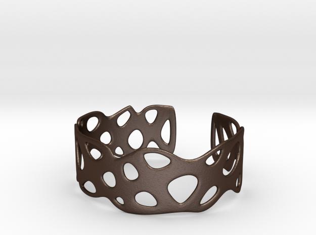 Cellular Bracelet Size M in Matte Bronze Steel