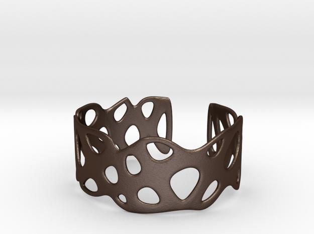 Cellular Bracelet Size S in Matte Bronze Steel