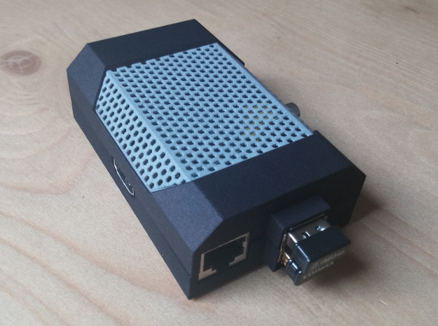 Pi Case Mesh 3d printed The mesh inserted in the Pi Case