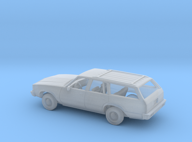 1/160 1980 Chevrolet Malibu Station Wagon Kit in Smooth Fine Detail Plastic