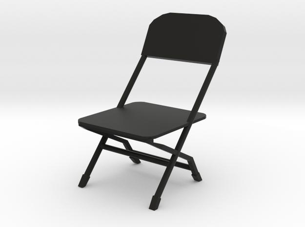 Inauguration Bernie Folding Chair Playset in Black Natural Versatile Plastic