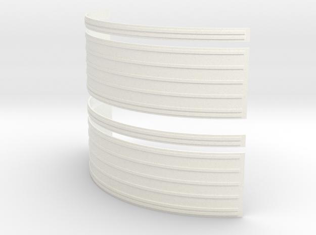 Apollo SM Large Rad Panels Set of 2- 1:35 in White Processed Versatile Plastic