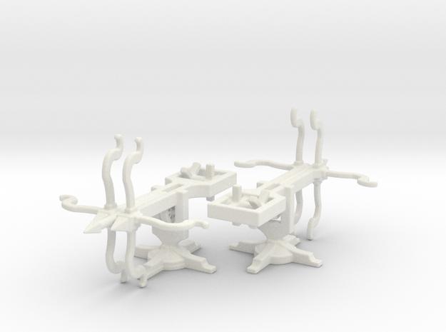Springalds  Ballista bolt 28mm pair  in White Natural Versatile Plastic
