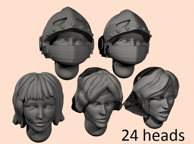 28mm Space nun heads