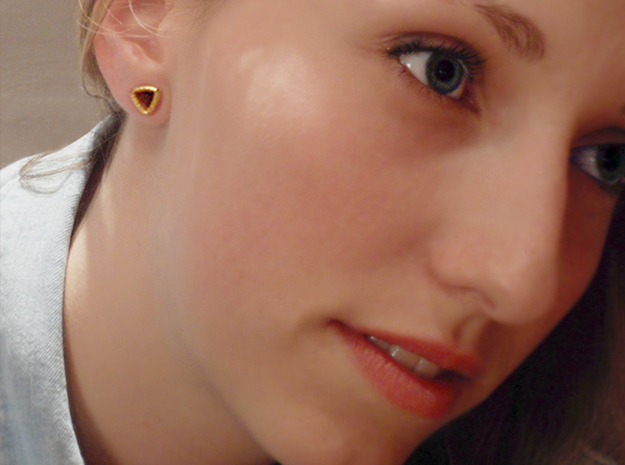 Stretch Diamond 12 By Jielt Gregoire 3d printed Shana is wearing a 8mm stretch of Matte Gold