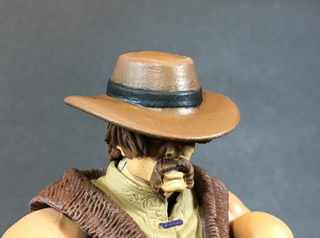 CowBoy hat for classics action figures in White Natural Versatile Plastic