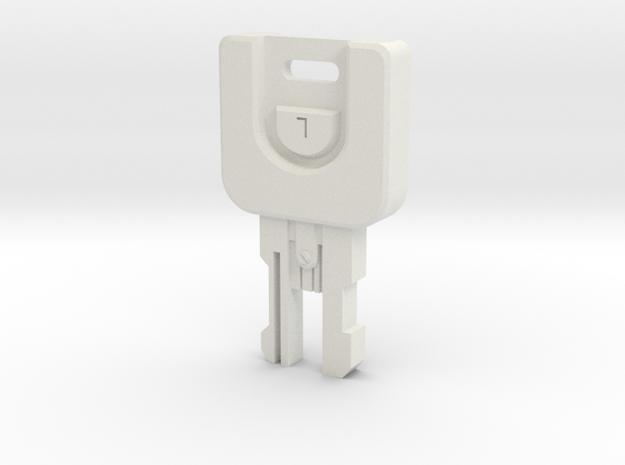 Resident Evil 0 Shaft key L in White Natural Versatile Plastic
