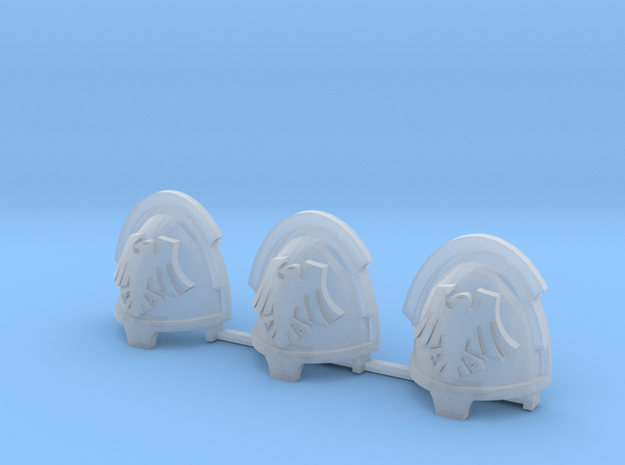 Space Crows Bladeguards shoulder pads x3 L in Smooth Fine Detail Plastic