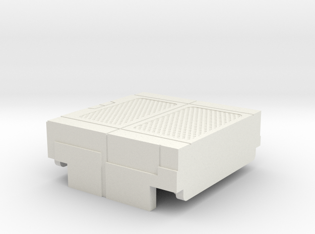 Starcom - Starbase Command - Plattform bridge s in White Natural Versatile Plastic
