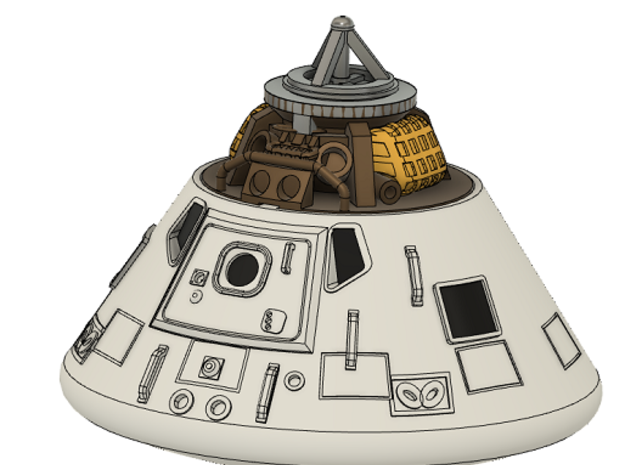 052A Apollo Command Module Kit 1/144