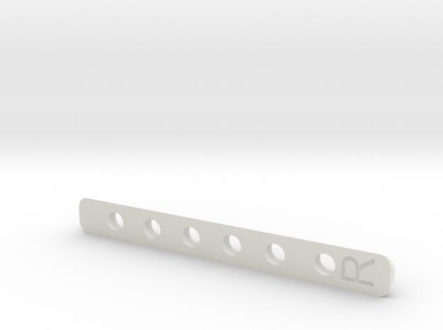 Deranged Masada lock bar in White Natural Versatile Plastic