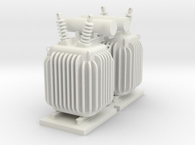 HO PRR TRANSFORMER 2PK in White Natural Versatile Plastic