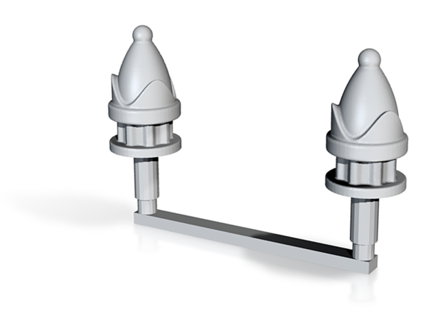 Chess Toppers - 2 Bishops in White Natural Versatile Plastic