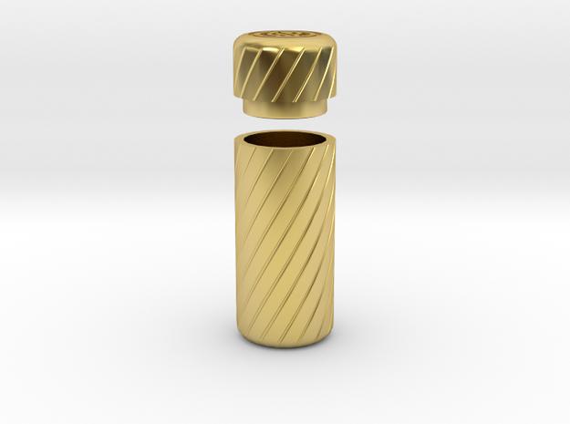 PRNT3D BOTTL STIK in Polished Brass