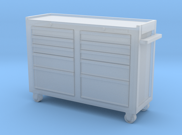 Rolling Tool Cabinet 01. 1:35 Scale  in Smooth Fine Detail Plastic