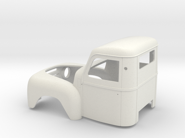 DAF A117 Pick up cab (1 op15,5) in White Natural Versatile Plastic