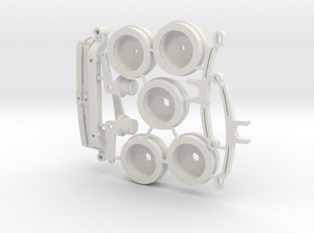 DAF A117 Wielen en asophanging in White Natural Versatile Plastic