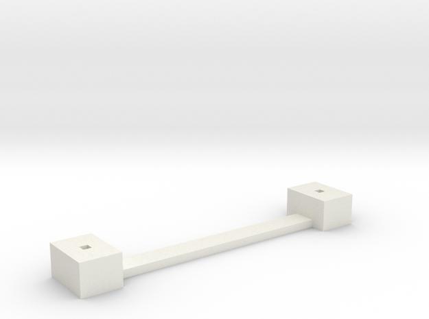 sächsisches Lademaß Fundament 1:120 TT in White Natural Versatile Plastic