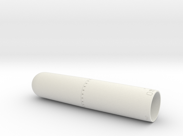 MK13-1 24th front in White Natural Versatile Plastic