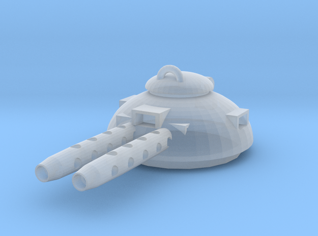 Design 2 double MG turret in Smooth Fine Detail Plastic