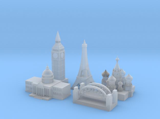 World War 2 Allied Capitals in Smooth Fine Detail Plastic