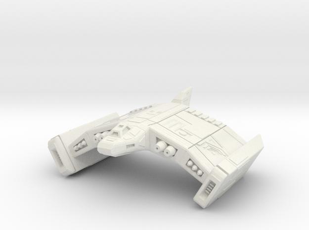 Swooping Bat 6cm in White Natural Versatile Plastic