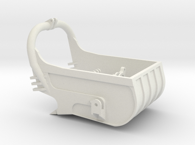 dragline bucket 7cuyd - scale 1/50 in White Natural Versatile Plastic