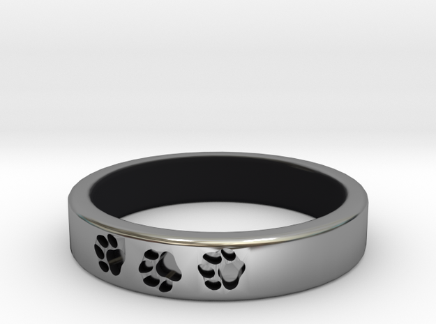 Paw Print Ring (Size 7) in Antique Silver