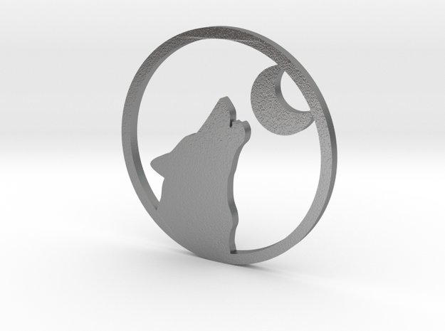 Wolf Moon howler 3d printed Wolf Moon howler silver