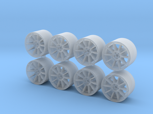 ZE40 815-55 1/64 Scale Wheels in Smooth Fine Detail Plastic