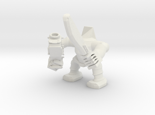 OrcBoy2 in White Natural Versatile Plastic