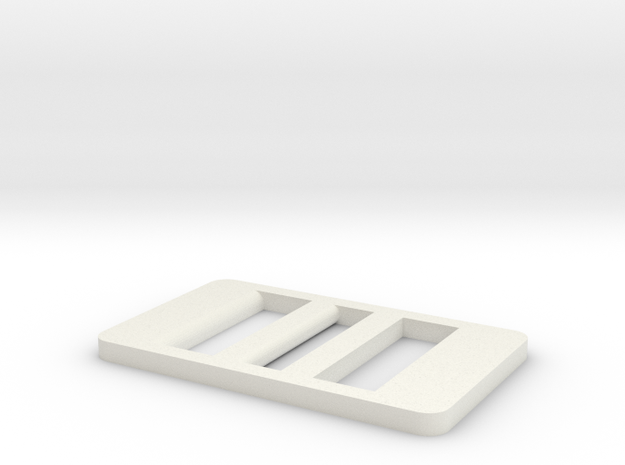Ladder Style Belt Buckle for No Hole Leather in White Natural Versatile Plastic