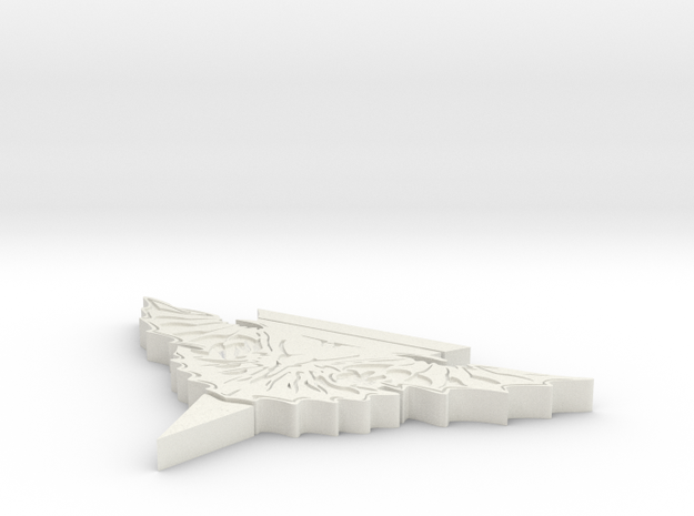 "Romulan Stand v2 4"" wing span in White Natural Versatile Plastic"