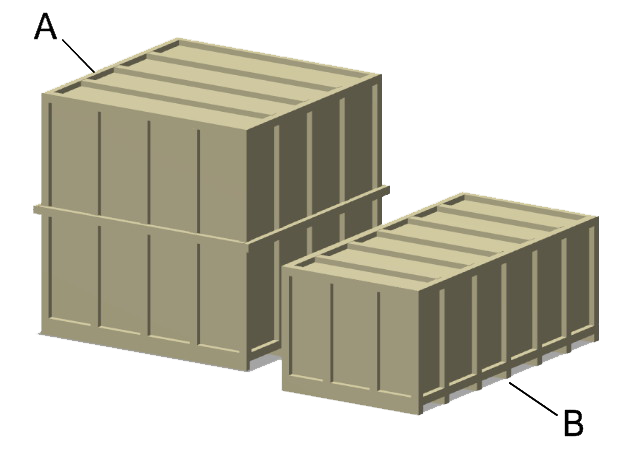 Shipping Crates - Large in Smooth Fine Detail Plastic: 1:87 - HO