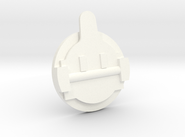 "3/4"" Scale Okadee Smoke Box Cleanout in White Processed Versatile Plastic"