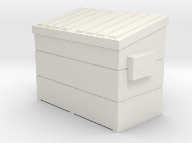 Dumpster small (1:160) in White Natural Versatile Plastic