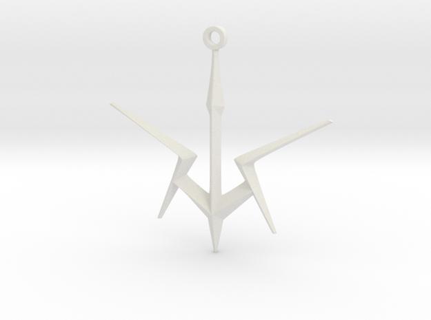 Black Knights Sigil Keychain - Code Geass in White Natural Versatile Plastic