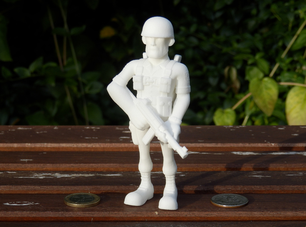 Paratrooper in White Natural Versatile Plastic