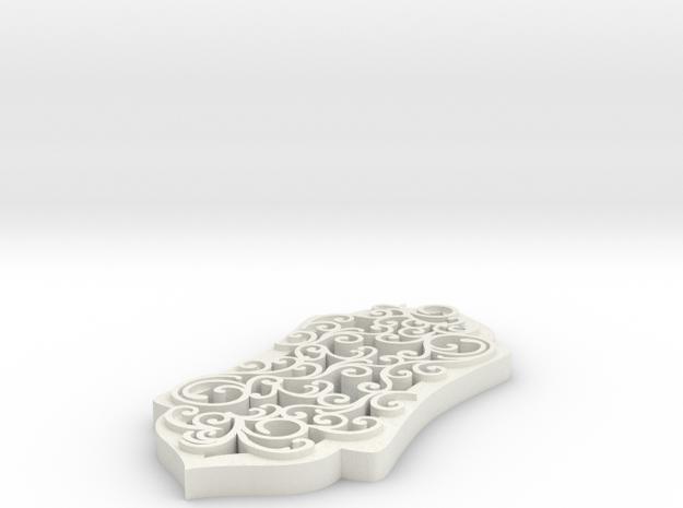 Swirl Pendant Fully Covered in White Natural Versatile Plastic