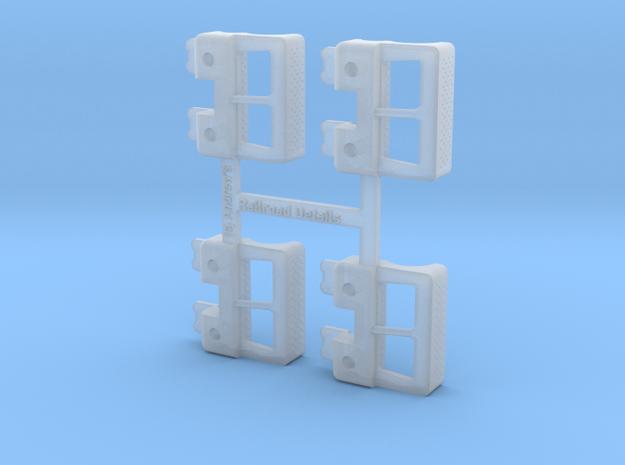 HO RDG Caboose Steps 4-pack in Smooth Fine Detail Plastic