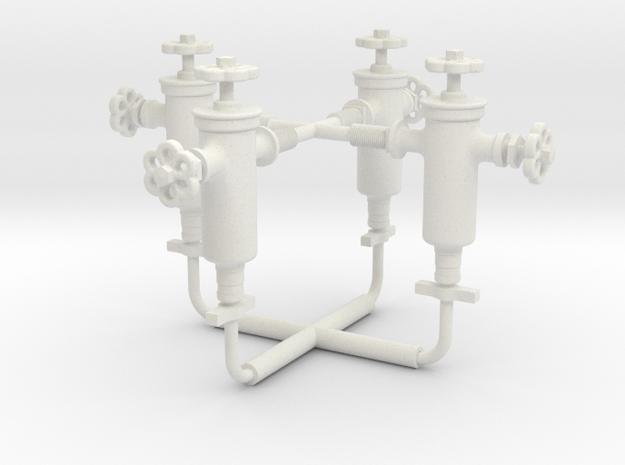 16KS001 Winns No.1 Roscoe Displacement Lubricator in White Natural Versatile Plastic